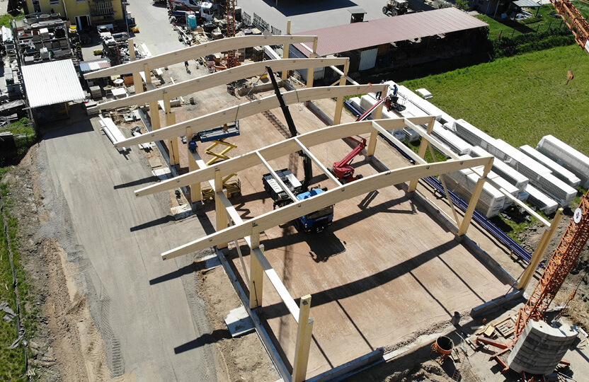 Holzbauweise Halle